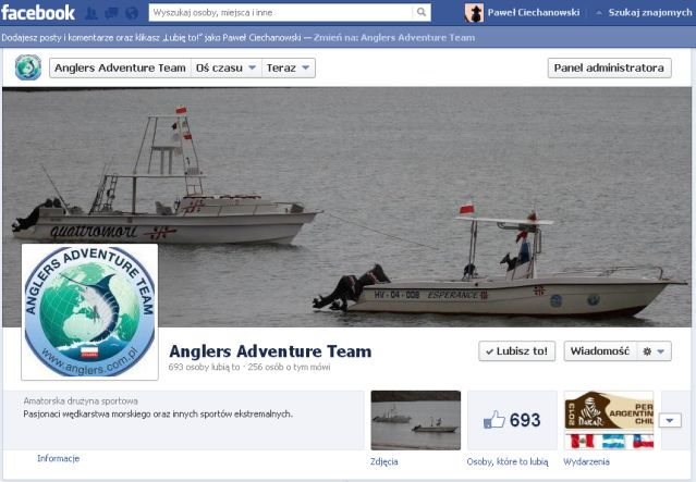 Nowy Fan Page – Anglers Adventure Team
